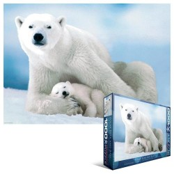 Puzzle Lední medvěd s mládětem