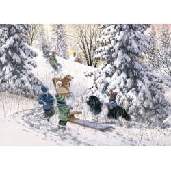 Puzzle Děti ve sněhu
