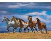 Puzzle Stádo koní přes vrchol