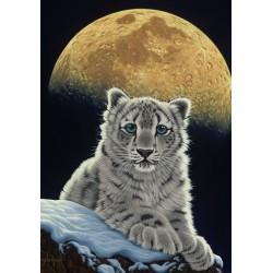 Puzzle Leopard ve svitu měsíce