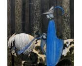Puzzle Jezdec v modrém plášti