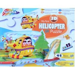 Puzzle Můj první vrtulník - 3D PUZZLE