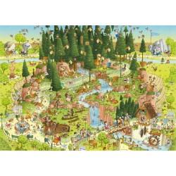 Puzzle Zábavná ZOO - Černý les