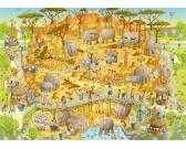 Puzzle Zábavna ZOO - Afrika