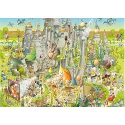 Puzzle Zábavná ZOO - Jurský park