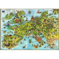 Puzzle Spojení draci evropští - TRIANGULAR PUZZLE