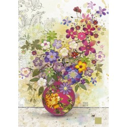 Puzzle Růžová váza
