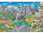 Puzzle Zábava v Alpách - TRIANGULAR PUZZLE