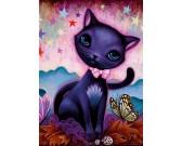 Puzzle Černé kotě