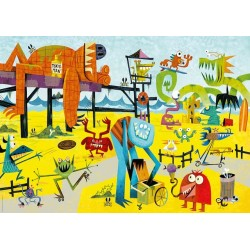 Puzzle Příšerky na pláži