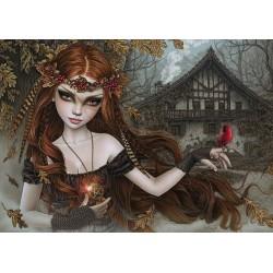Puzzle Červený pták