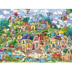 Puzzle Šťastné město - TRIANGULAR PUZZLE