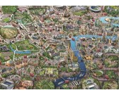 Puzzle Mapa Londýna