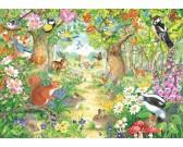 Puzzle Zvířátka našeho lesa