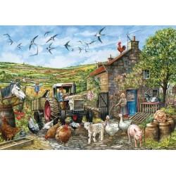 Puzzle Den na anglickém venkově