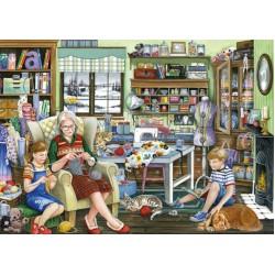 Puzzle Babičina šicí místnost