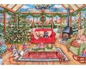 Puzzle Vánoční zimní zahrada
