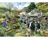 Puzzle Běžný den na farmě