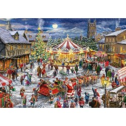 Puzzle Vánoční kolotoč