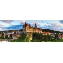 Puzzle Hrad Sigmaringen, Německo - PANORAMATICKÉ PUZZLE