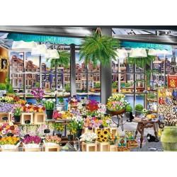 Puzzle Amsterdamský květinový trh