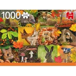Puzzle Zvířátka podzimu