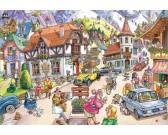Puzzle Vesnice v horách - WASGIJ PUZZLE