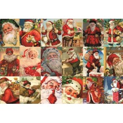 Puzzle Santa Klaus - koláž