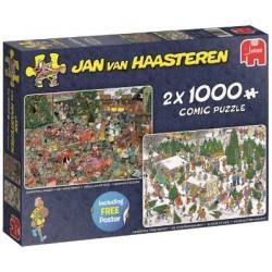 Puzzle Štědrovečerní večeře / Prodej vánočních stromků
