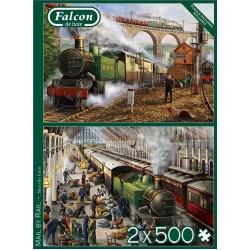Puzzle Poštovní vlaky