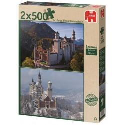 Puzzle Neuschwanstein - podzim / zima