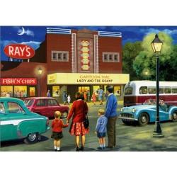 Puzzle Návštěva kina
