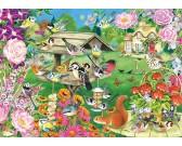Puzzle Ptáčci v zahradě