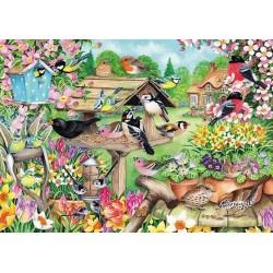 Puzzle Ptáčci v jarní zahradě