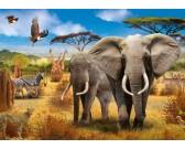 Puzzle Africká savana