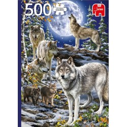 Puzzle Vlci v zimě