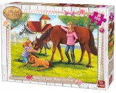 Puzzle Koně s hříbětem - DĚTSKÉ PUZZLE