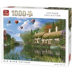 Puzzle Starý domek u řeky