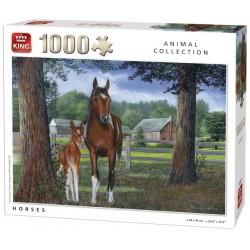 Puzzle Koně v ohradě