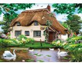 Puzzle Labutě u domku