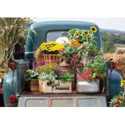 Puzzle Květiny na autě