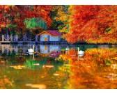 Puzzle Malý domek u jezera