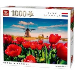 Puzzle Větrné mlýny v Holandsku