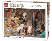 Puzzle Kočky ve stodole