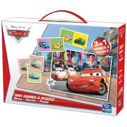 Puzzle Cars + domino + pexeso - DĚTSKÉ PUZZLE