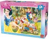 Puzzle Sněhurka - návštěva prince - DĚTSKÉ PUZZLE