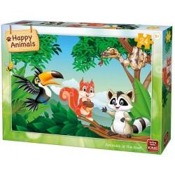 Puzzle Zvířátka na stromě - DĚTSKÉ PUZZLE