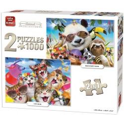Puzzle Zvířecí párty