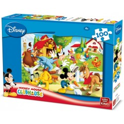 Puzzle Mickey Mouse na farmě - DĚTSKÉ PUZZLE