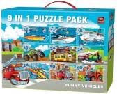 Puzzle Veselé dopravní prostředky - DĚTSKÉ PUZZLE